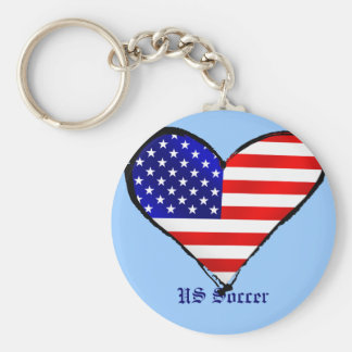 American heart USA Soccer lover US soccer gifts Keychain