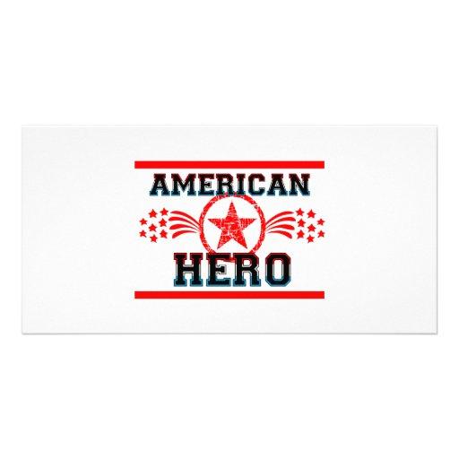 American Hero Customized Photo Card