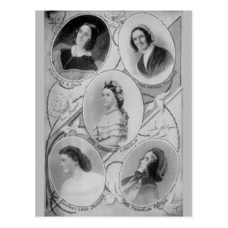 American History First Ladies of The USA Vintage Postcard