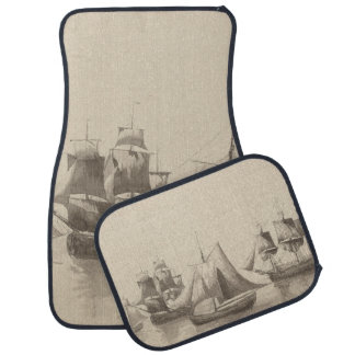 American History - Sailing from Halifax Car Mat