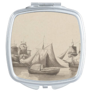 American History - Sailing from Halifax Compact Mirrors