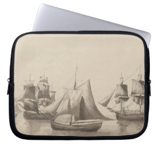 American History - Sailing from Halifax Laptop Sleeves