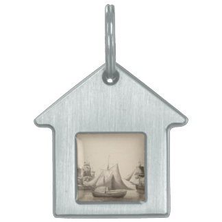 American History - Sailing from Halifax Pet ID Tag