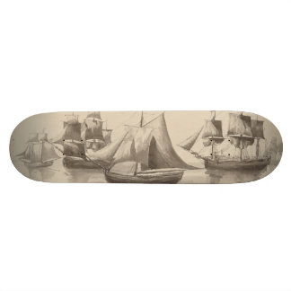 American History - Sailing from Halifax Skate Board