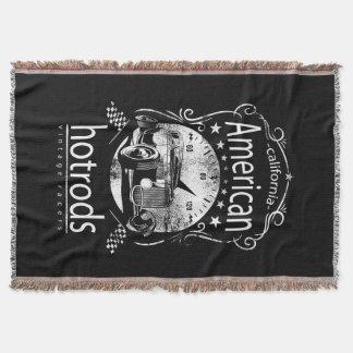 American Hot rods Woven blanket