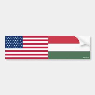American & Hungarian Flags Bumper Sticker