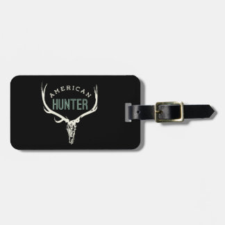 American Hunter - Skull with Rack deer / elk Luggage Tag