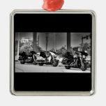 American Icon Silver-Colored Square Ornament