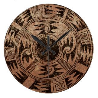 American Indian Basket design Large Clock