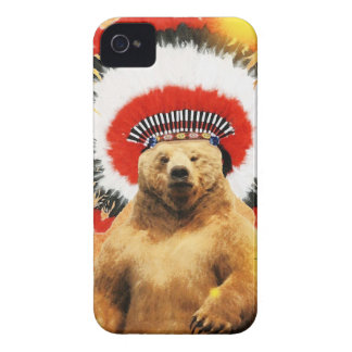 American Indian Bear! Case-Mate iPhone 4 Cases