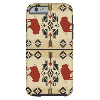 American Indian Buffalo Phone Case Red