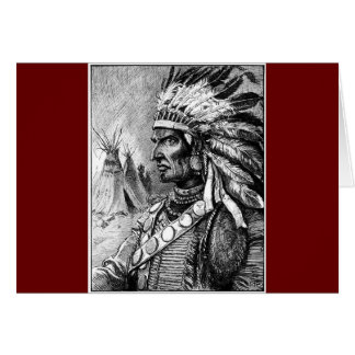American Indian Chief Card