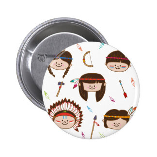 AMERICAN INDIAN KIDS 2 INCH ROUND BUTTON
