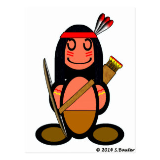 American Indian (plain) Postcard