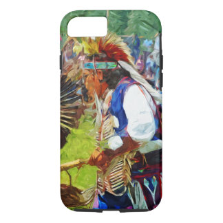 American Indian Pow Wow Dancer Abstract iPhone 7 Case