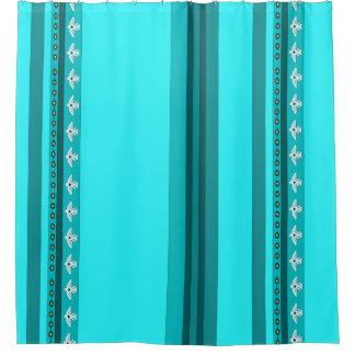American Indian Thunderbird Striped Shower Curtain
