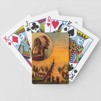 American Indians Vintage Magic Lantern Slide Poker Deck