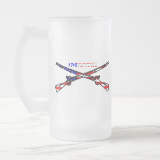 American Infantry Frosted Glass Beer Mug