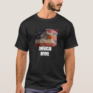 American Infidel Displying flag T-Shirt