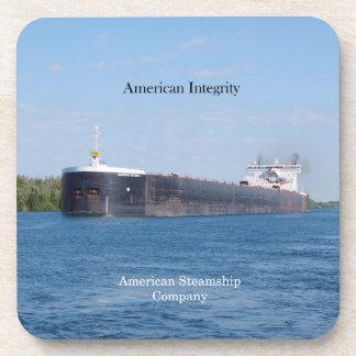 American Integrity set of 6 plastic coasters