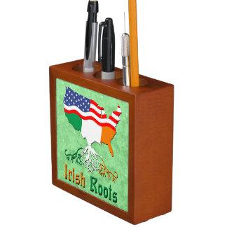 American Irish Roots Desk Tidy Desk Organizer