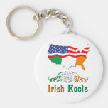American Irish Roots Key Chain