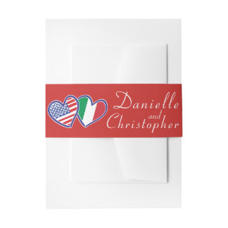 American Italian Love Belly Band Invitation Belly Band