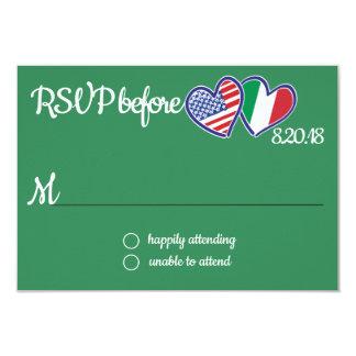 American Italian Love Response Card