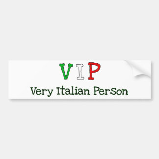 American Italians and proud Bumper Sticker