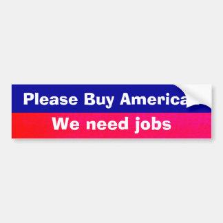 American Jobs Bumper Sticker