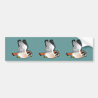 American Kestrel in flight Bumper Sticker