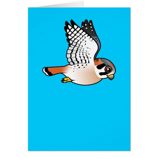 American Kestrel in flight Card