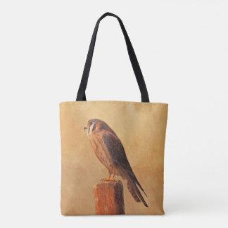 American Kestrel Painting - Original Bird Art Tote Bag