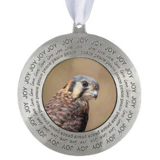 American Kestrel Pewter Ornament