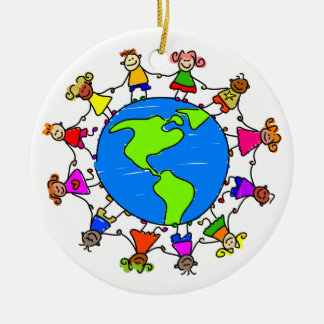 American Kids Ceramic Ornament