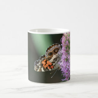 American Lady Butterfly Mug. Classic White Coffee Mug