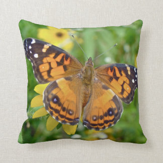American Lady Butterfly - Vanessa virginiensis Pillow