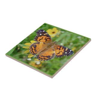 American Lady Butterfly - Vanessa virginiensis Tile