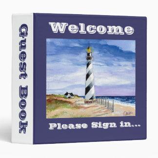 American Lighthouse guest book Vinyl Binder
