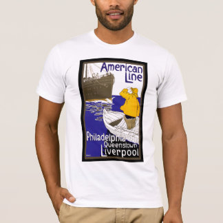 American Lines Sailor in Boat Meeting Liner T-Shirt