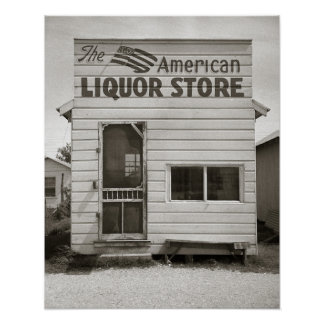 American Liquor Store, 1943. Vintage Photo Poster
