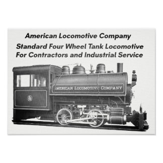 American Locomotive Company 0-4-0 T Poster