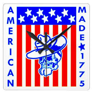 American Made 1775 Skull Flag Soldier Clock