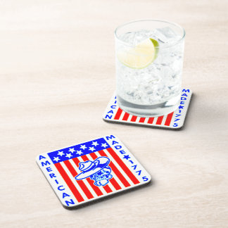 American Made 1775 Skull Flag Soldier Drink Coasters