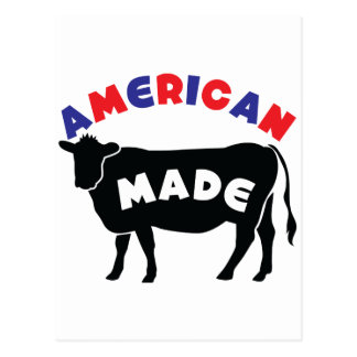 American made beef postcard