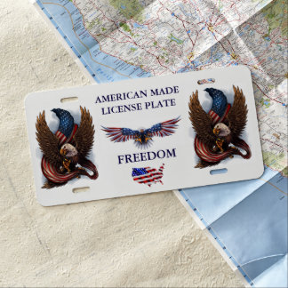 AMERICAN MADE LICENSE PLATE /  FREEDOM