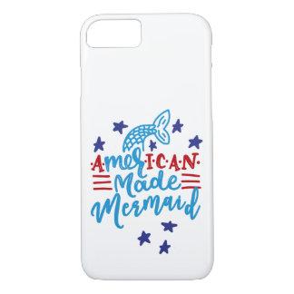 American Made Mermaid. Cute Sayings iPhone 8/7 Case
