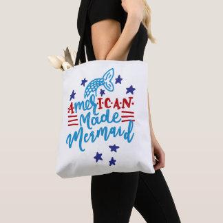 American Made Mermaid. Cute Sayings Tote Bag