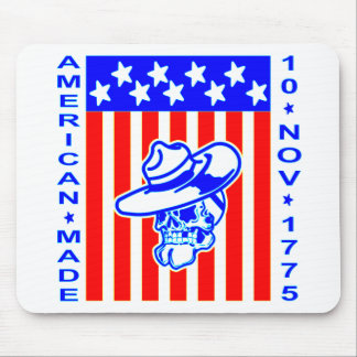 American Made Skull Flag 10 Nov 1775 Mouse Pad