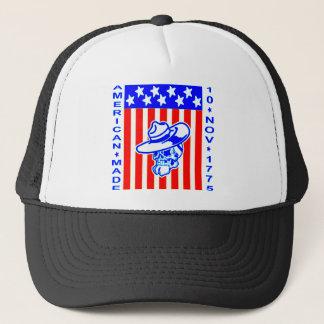 American Made Skull Flag 10 Nov 1775 Trucker Hat